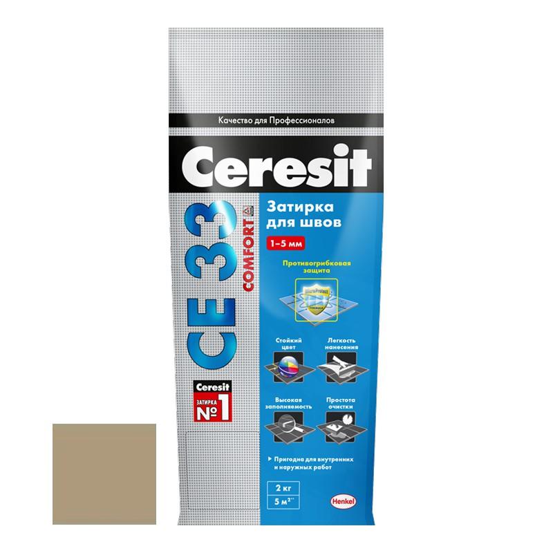 Затирка для узких швов Ceresit СЕ33 Comfort Багама бежевая 2 кг