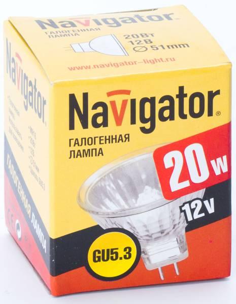 Лампа галогенная  NH-MR16-20-12-GU5.3 (20 Вт, 12 В)