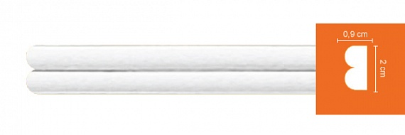 Молдинг гладкий Decomaster DI 113 ШК (размер 20х9х2400)