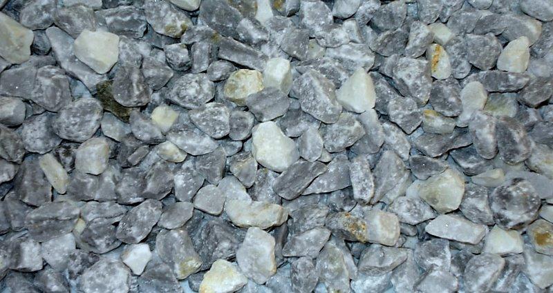 Мраморная крошка, 25кг фр. 10-20 мм (серо-голубая)