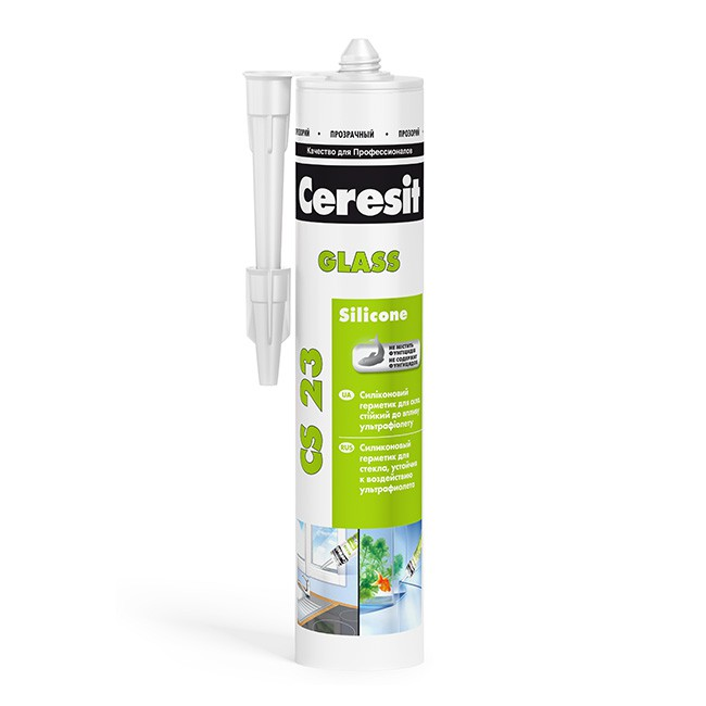 Герметик силиконовый Ceresit CS 23 для стекла и аквариумов прозрачный