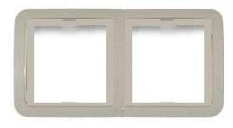 Рамка Lezard 2-я горизонтальная белая