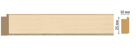 Багет Decomaster 102-13 (размер 25х10х2400)