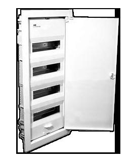 Щит ABB UK 540S (48-56 модулей), врезной, белый с белой металлической дверью