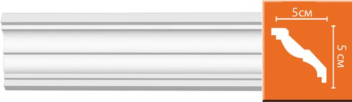 Плинтус гладкий Decomaster 96117 (размер 50х50х2400)