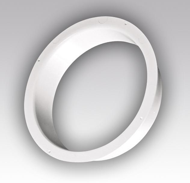 Фланец круглый ПВХ, диам. 125 (вентиляция)