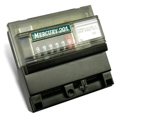 Счетчик электроэнергии Меркурий 201.6 (10-80А) 220В однотарифный мех. дисплей