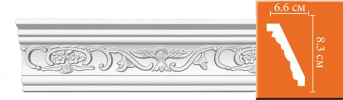 Плинтус  с орнаментом Decomaster 95036 (размер 83х66х2400)