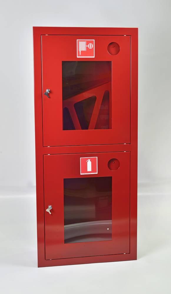 Шкаф пожарный ШПК-320ВОК встраиваемый открытый красный