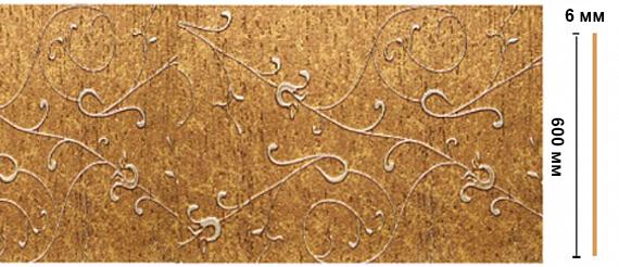Декоративная панель Decomaster N60-28 (595х6х2400мм)