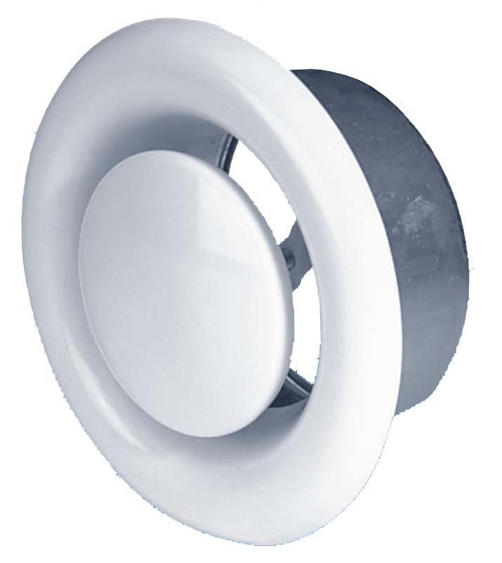 Диффузор вентиляционный пластиковый, 125мм