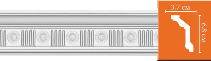 Плинтус с орнаментом Decomaster DT 88151 (размер 68х37х2400)