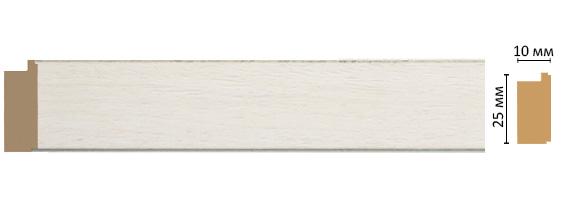 Багет Decomaster 102-14 (размер 25х10х2400)