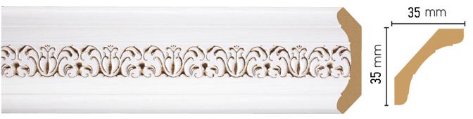 Потолочный плинтус (карниз) Decomaster 167S-118 (размер 35х35х2400)