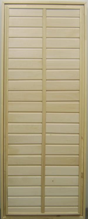 Дверь из липы в парилку глухая с коробкой 170х75см