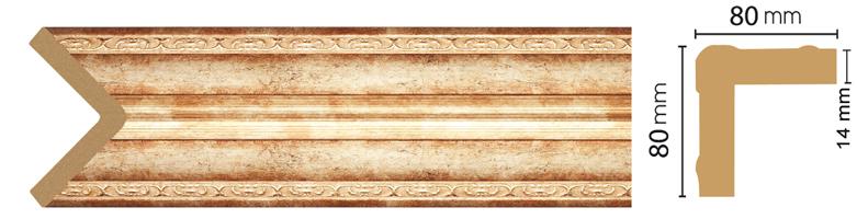 Уголок Decomaster 140-127 (размер 80х80х2400)
