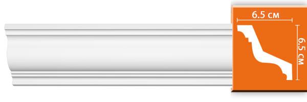 Плинтус гладкий Decomaster 96801 (размер 65х65х2400)