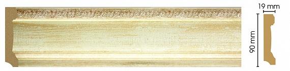 Плинтус напольный Decomaster 166-281 (размер 90х19х2400)