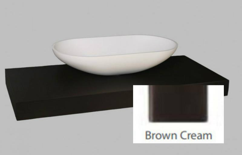 Столешница Kolpa-san Kerrock brown cream 120x52 ВФ