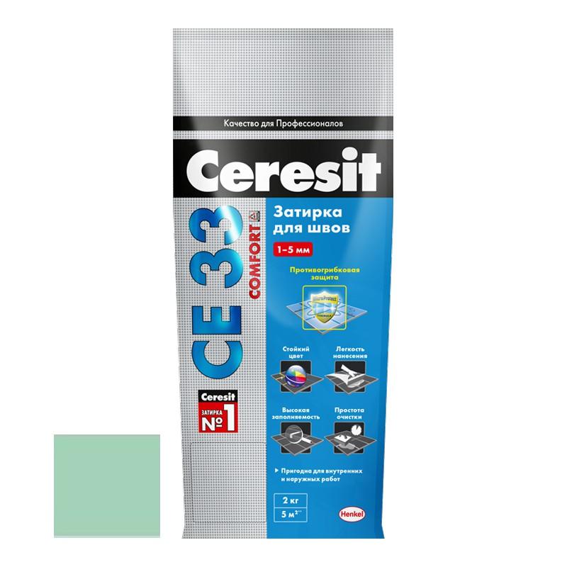 Затирка для узких швов Ceresit СЕ33 Comfort Киви 2 кг