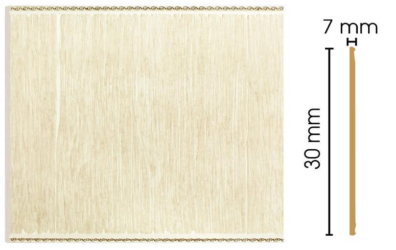 Цветная панель Decomaster С30-6 (300х7х2400)