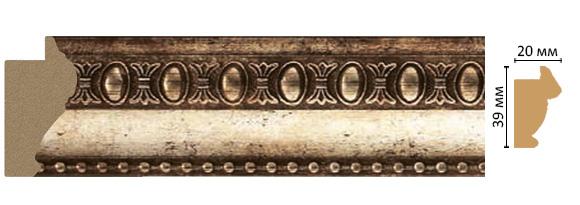 Багет Decomaster 685-127 (размер 39х20х2900)