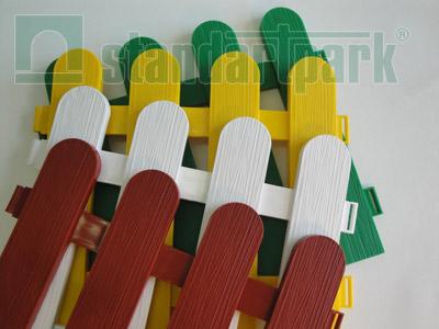Забор декоративный №7 ЗД-2240.290-ПП пластиковый  зеленый 8307-З