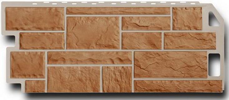 Цокольный сайдинг FineBer камень терракотовый, упаковка 5,34м2