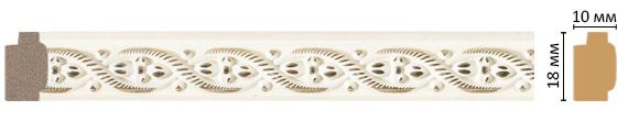Decomaster Багет Decomaster 158-6 (размер 18х10х2400) decomaster багет decomaster 808 552 размер 61х26х2900мм
