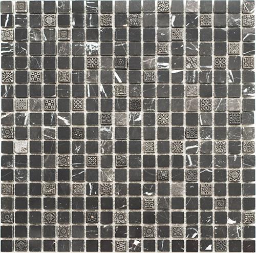 Плитка Colori Viva Nero-Brown Мозаика