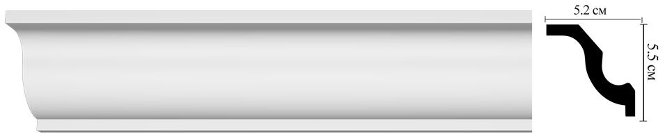 Плинтус потолочный  Decomaster D108  (52х55х2000мм)