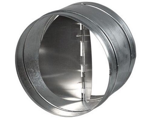 Обратный клапан оцинкованный вентиляция, диам125