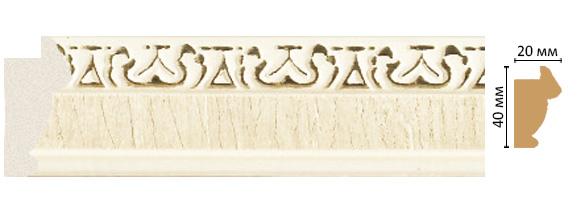 Decomaster Багет Decomaster 807-6 (размер 40х20х2900) decomaster багет decomaster 808 552 размер 61х26х2900мм