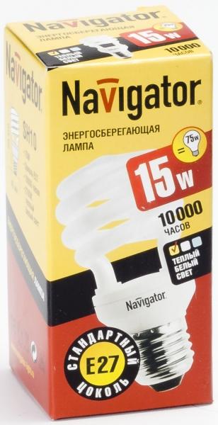 Лампа э/сб Navigator NСL-SH10-15-827-E27 теплый (15Вт)