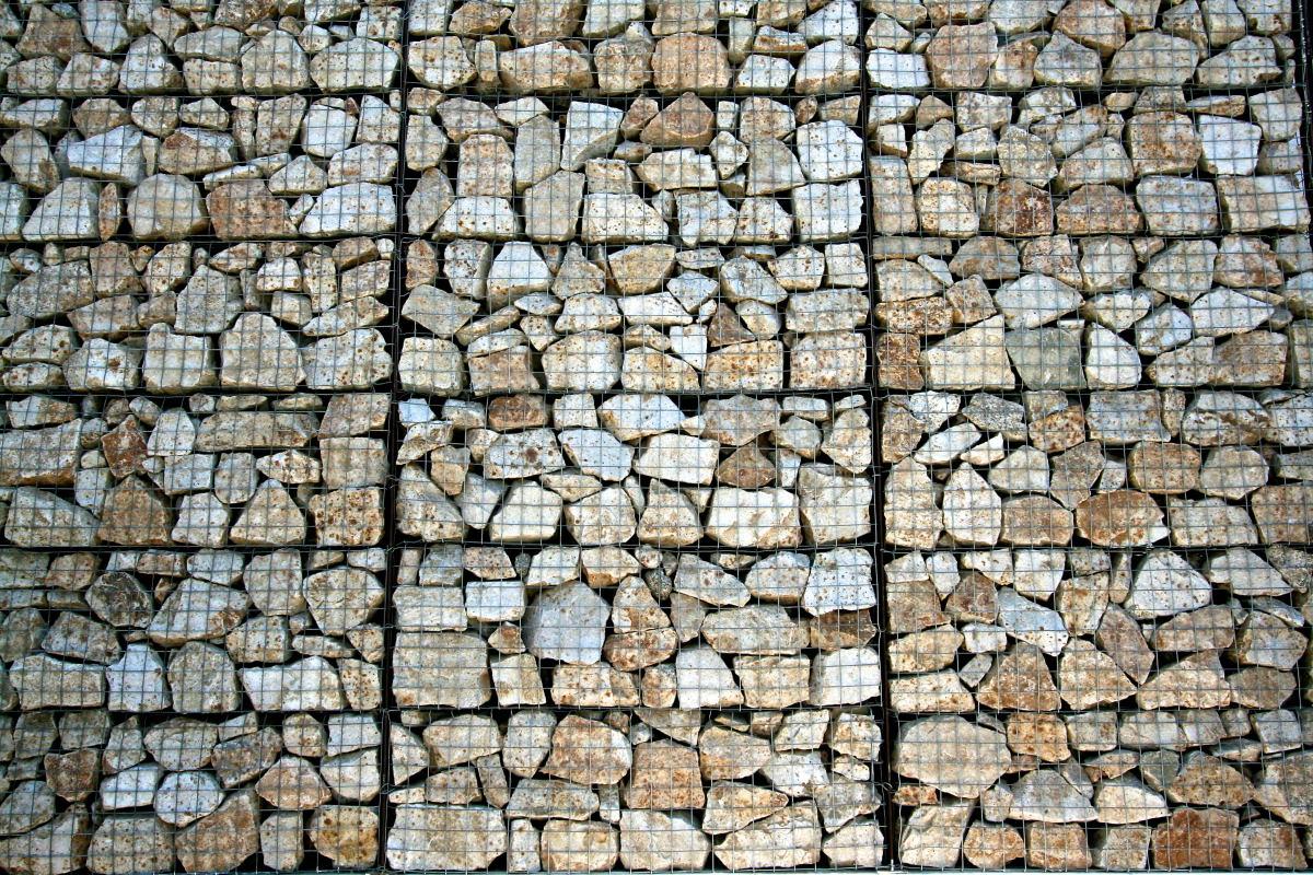 Габион для подпорной стены разм.1,5x1x0,5