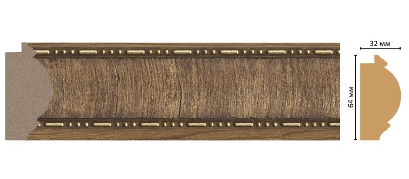 Decomaster Багет Decomaster 176-3 (размер 64х32х2900) decomaster багет decomaster 808 552 размер 61х26х2900мм