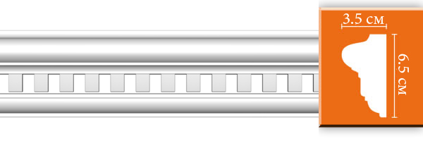 Молдинг с орнаментом Decomaster DT 6020 (размер 65х35x2400)