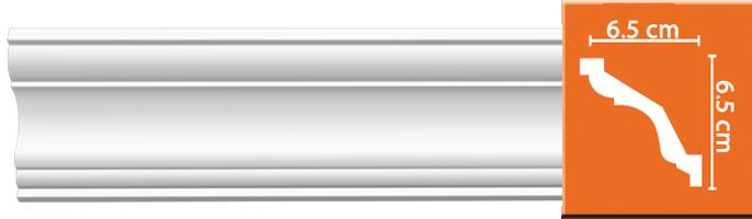 Плинтус гладкий Decomaster DP 352 (размер 65х65х2400)