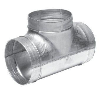 Тройник круглый 160х160х100 (воздуховод оцинкованный)