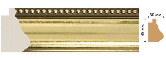 Decomaster Багет Decomaster 528-1243 (размер 45х30х2900) decomaster багет decomaster 808 552 размер 61х26х2900мм