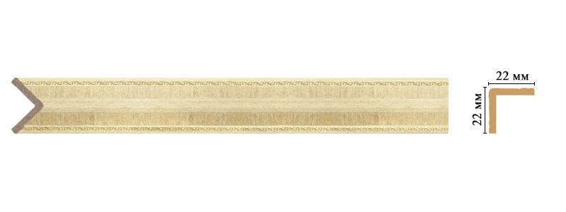 Цветной угол Decomaster 116M-5 (размер 22х22х2400)