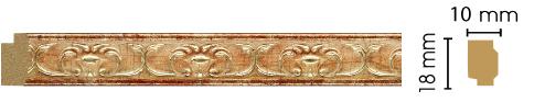 Молдинг Decomaster 158-127 (размер 18х10х2400)
