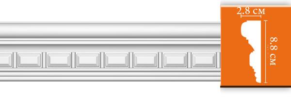Молдинг с орнаментом Decomaster DT 9866 (размер 88х28х2400)