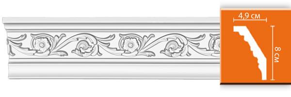 Плинтус с орнаментом Decomaster DT 14 (размер 80х49х2400)