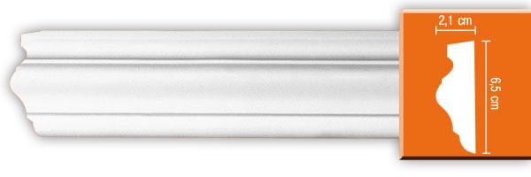 Молдинг гладкий  Decomaster 97022 (размер 65х21х2400)