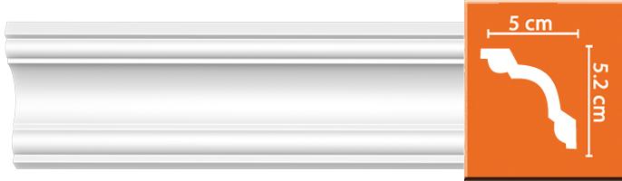 Плинтус гладкий Decomaster 96628 (размер 52х50х2400)