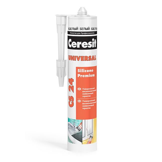 Герметик силиконовый Ceresit CS 24 универсальный белый