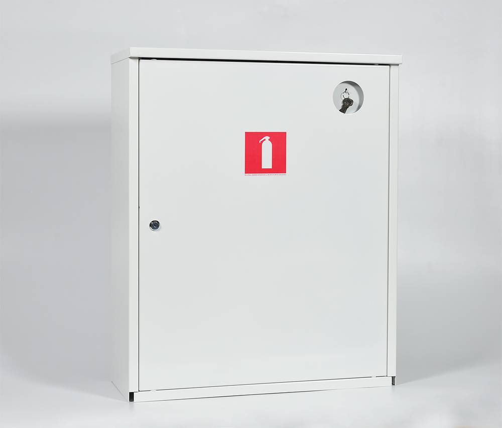 Шкаф для огнетушителя ШПО-112НЗБ навесной закрытый белый