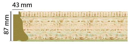 Багет Decomaster 413-919 (размер 91х46х2900)