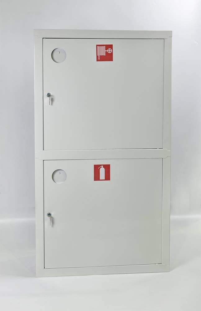 Шкаф пожарный ШПК-320-12ВЗБ встраиваемый закрытый белый